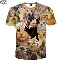 Mr.1991 3D Animaux t-shirt pour garçons et filles Drôle magique kute chaton une variété de imprimé animal grands enfants t-shirt vente chaude A1