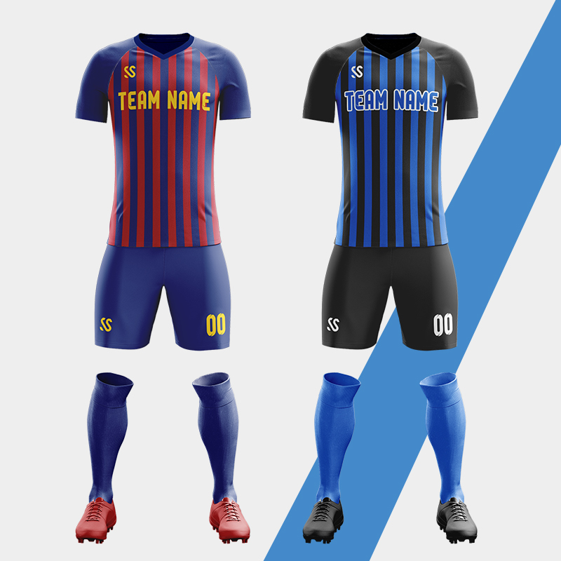 New Youth Football Full Kit Adult Kids Soccer Strip Boy Sports Wears Jersey Suit
