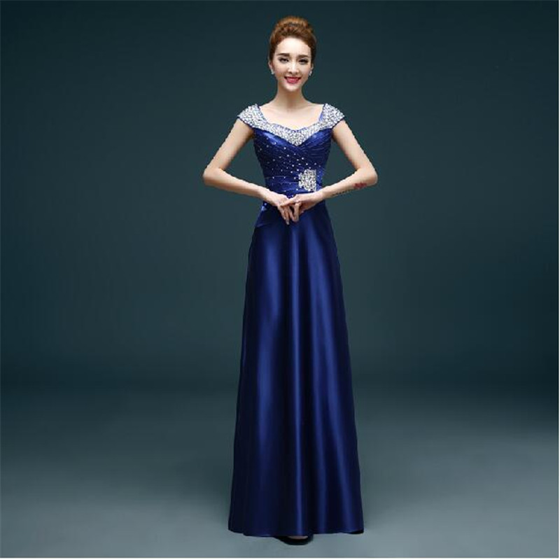 2015 long design v neck bridesmaid dresses plus size wedding ...
