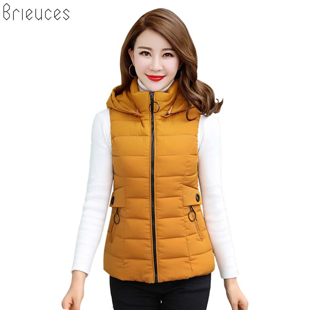 Br Women Winter Vest Waistcoats 2018 Cardigans Jacket Casual Slim Winter Warm Sleeveless Parkas Outwear Female Coat Short Coat in Vests amp Waistcoats from Women 39 s Clothing