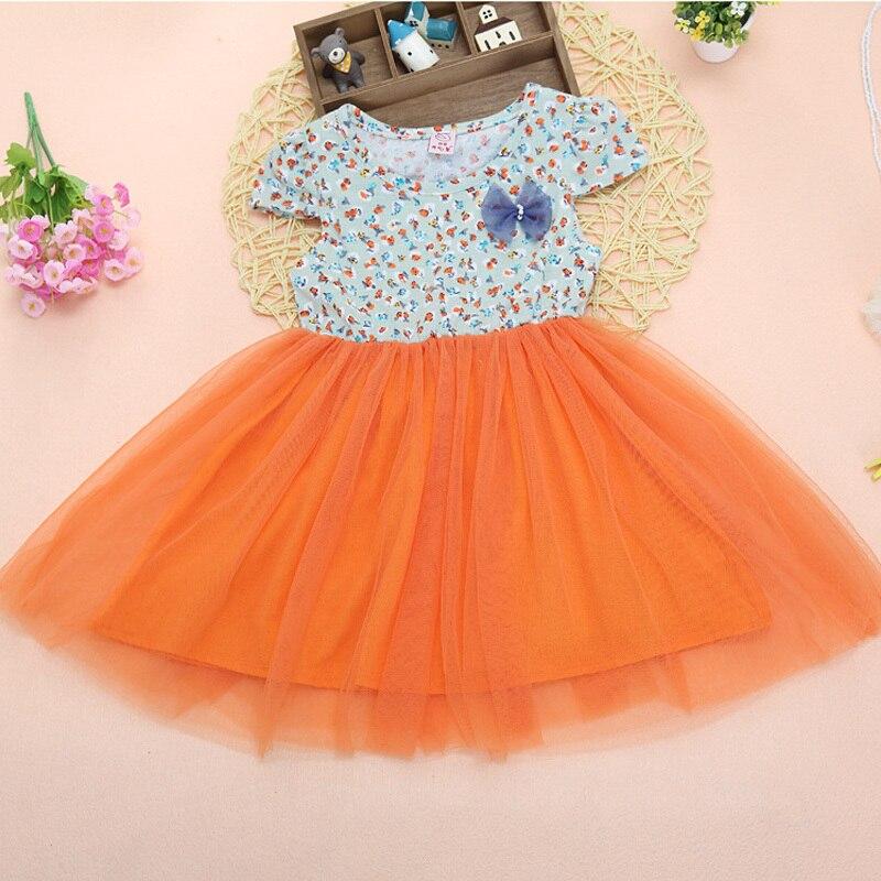 194db814b Aliexpress.com   Buy Little Girls Floral Print Pleated Midi Dress ...