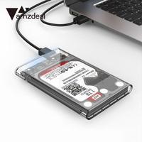 Amzdeal 2.5 Pouce Transparent USB 3.0 HDD de Protection Cas Outil SATA Boîtier Disque Dur Couvercle De La Boîte