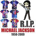 Raisevern Produce Para Conmemorar Michael Jackson Pintura Print T Shirt Hombres/Mujeres Camiseta Camiseta MJ Baile Top Tee Vestuario
