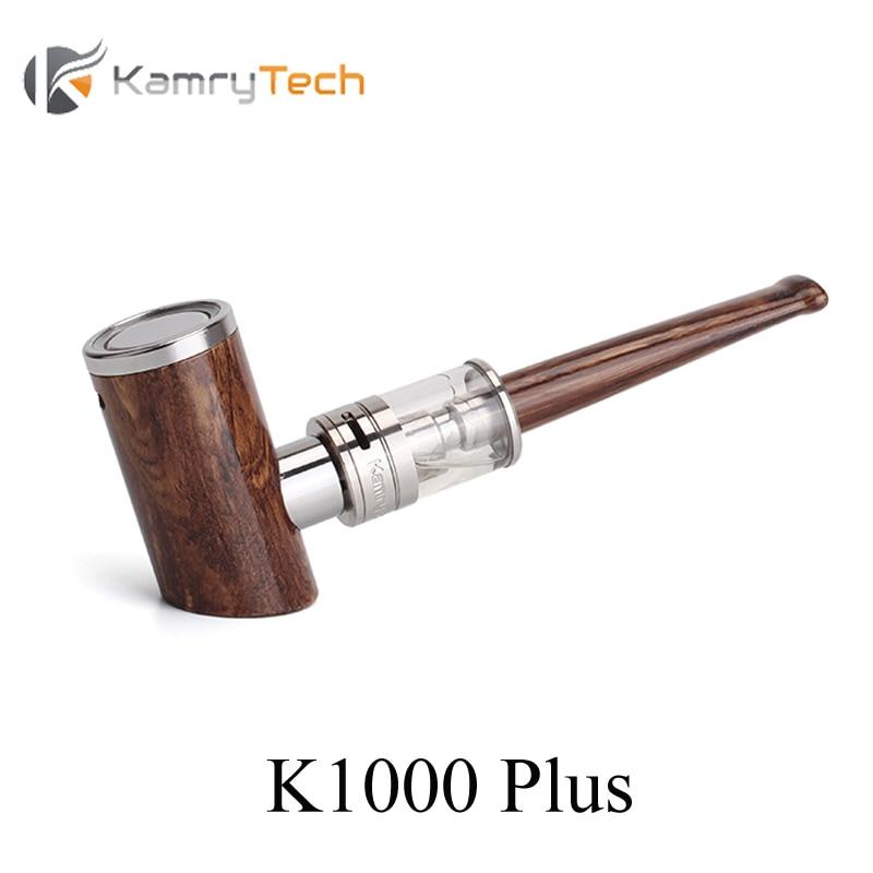 E Pipa Kamry K1000 Ditambah Kayu Pipa Vape Pena Rokok Elektronik Kit E Hookah Vaporizer dengan K1000 Alat Penyemprot E-rokok X1034
