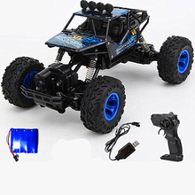 цена на NEWtoya car Electric RC Car Rock Crawler Remote Control Toy Cars On The Radio Controlled 4x4 Drive Off-Road Toys For  Kids Gift