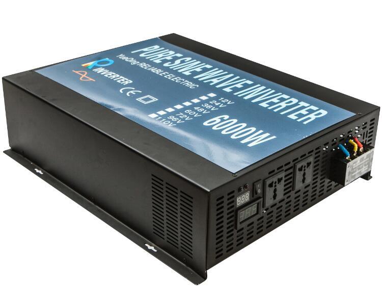 Pure Sine Wave Solar Inverter 24V 220V 6000W Power Inverter Generator 12V/24V/48V/110V DC to 110V/120V/220V/240V AC Transformer