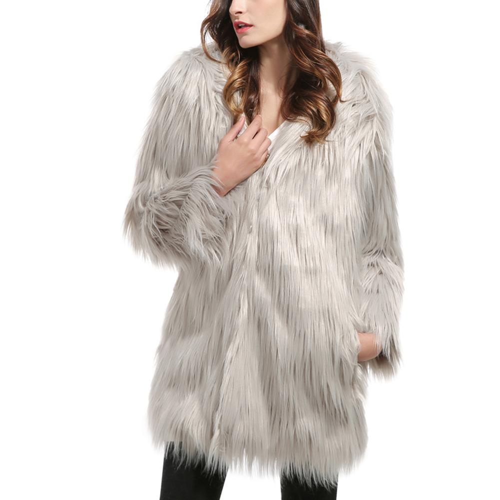 3XL mode fausse fourrure manteaux à manches longues épaissir chaud hiver vestes femmes Streetwear Cardigans survêtement femme fourrure pardessus
