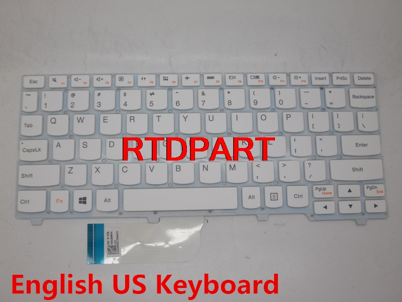 Laptop Keyboard For LENOVO Ideapad 100S-11IBY English US Layout White Without Frame 5CB0K48350 Palmrest  цены онлайн