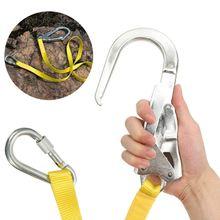 Lanière de sécurité, corde de Protection contre les chutes de lanière de ceinture de harnais descalade extérieure avec de grands mousqueton, mousqueton