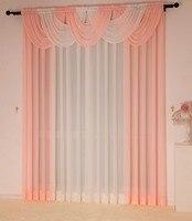 거실 용 커튼 cortinas luxury tulle drapes 패널 현대 sheer kitchen 폭포 창 치료 커튼 valance