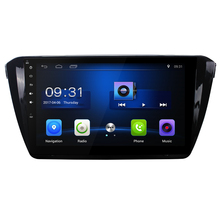 10.2 inch Quad core Car radio for SKODA Superb 2016 2015 Android 6.0 car DVD player with WiFi BT Steering wheel 1G RAM