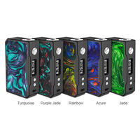 Original VOOPOO DRAG 157W TC Box MOD e cigarette 157W 18650 box mod Vape with US GENE chip Temperature Control Resin Box mod