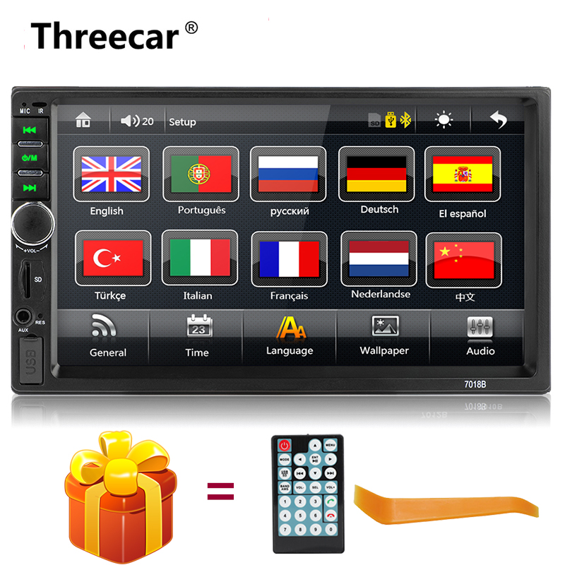 "2 Din Car Radio Autoradio 7"" HD Multimedia Player 2DIN Touch Screen Audio Car Stereo MP5 Bluetooth Mirrorlink Android car audio"