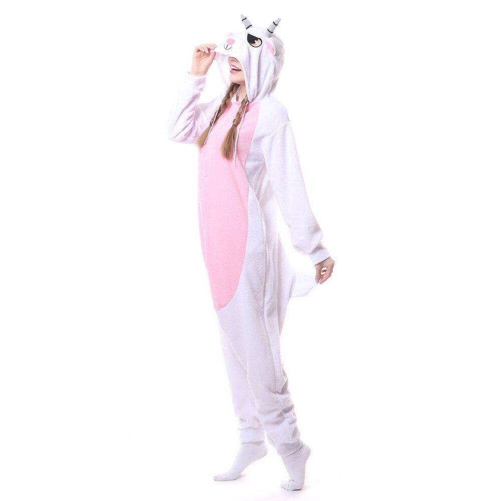 ec4cd5d305 Adulto unisex pecora capra tute monopezzo pigiami in pile pigiama animale  costumi cosplay del fumetto degli indumenti in Adulto unisex pecora capra  tute ...