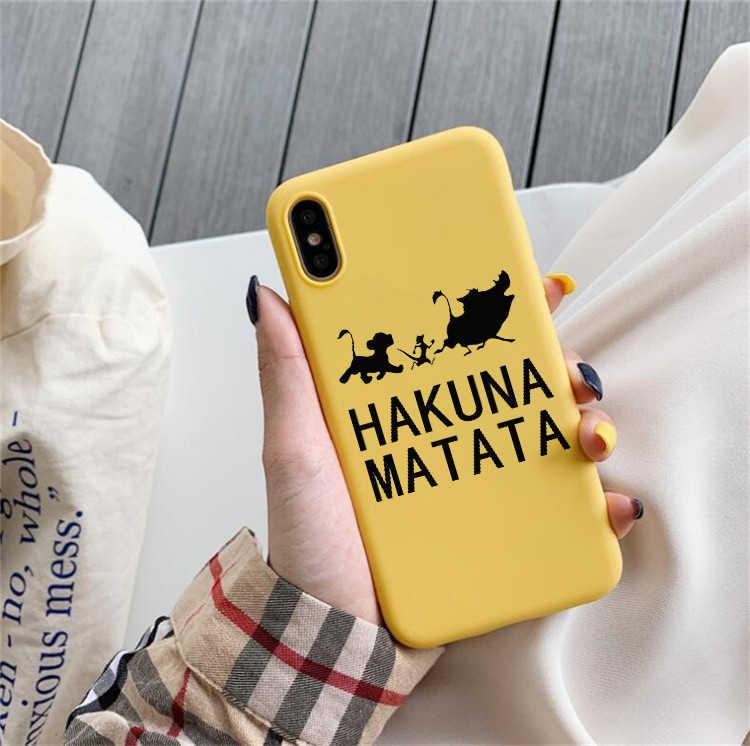Leão rei hakuna matata caso de telefone para huawei p30 pro p30 lite p20 pro p10 companheiro 20 p10 lite honra 9 lite honra 10 lite honra 8x
