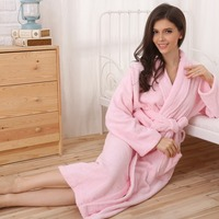Cotton Bathrobe Women Long Terry Plus Size For Women Printed Girls Sleepwear Nightgown Ladies Thicken Soft