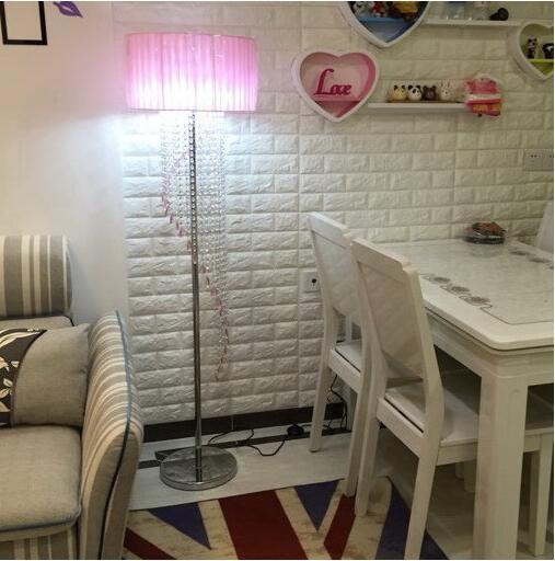 US $169.98  Modernen k9 kristall stehleuchten e14 led lampen Wohnzimmer  schlafzimmer edelstahl kristall stehleuchte geeignet ac 90 260v in Modernen  k9 ...
