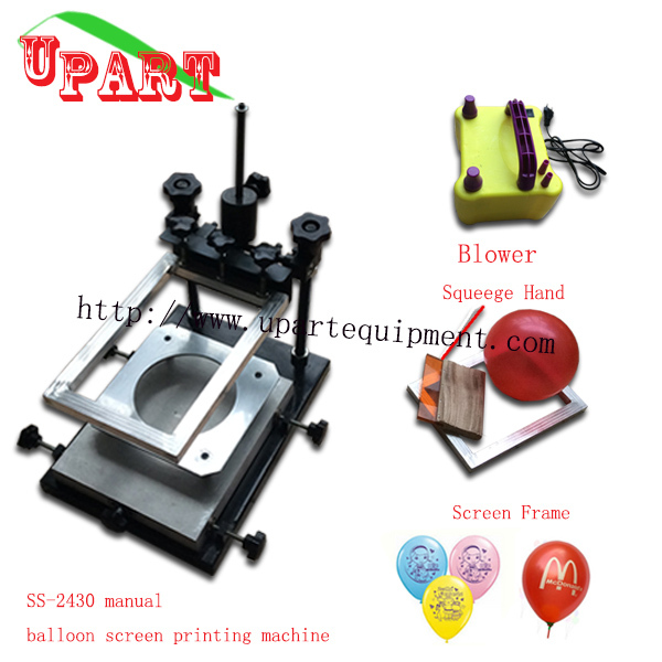manual baloon printing machine with accessaries and electric inflator pump