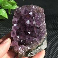 350 1200g Natural amethyst cluster quartz crystal geode specimen healing