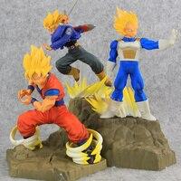 3 Styles Original Absolute Perfection Figure dragon ball Z Son Gokuu Vegeta Trunks Battle Ver PVC Action figure