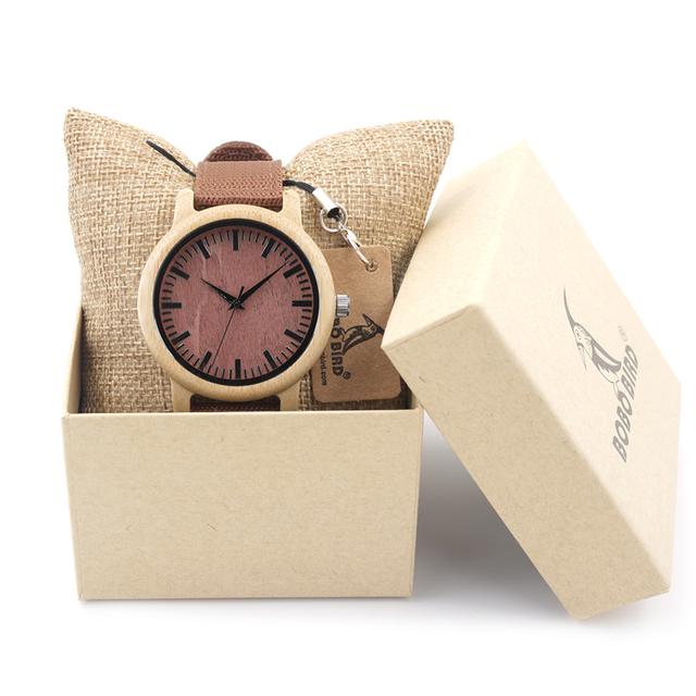 Bobo bird d09 2016 bonita de madeira japão miyota movimento do relógio de pulso dos homens relógios de marca de moda designer de bambu de madeira