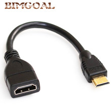 Стандартный 1080 P мини HDMI к HDMI кабель штекер к женскому конвертеру адаптер M F Удлинительный переходник Кабель