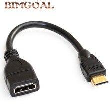 Standardowy 1080 P Mini HDMI do HDMI kabel męski na żeński konwerter Adapter M F Adapter przedłużający przewód łączący