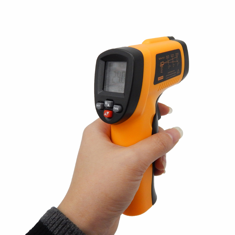 ФОТО Digital non-contact IR infrared thermometer Laser SensorTemperature Meter 50~550C adjustable 0.95 pyrometer BENETECH GM550E