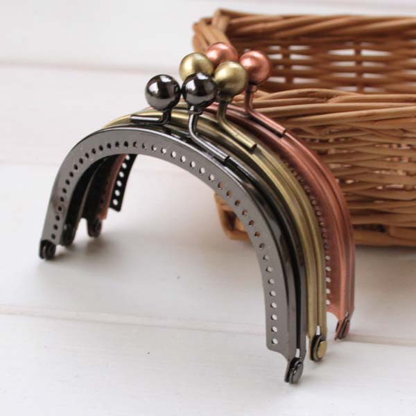 coin purse frames fgz3  K096-high qualit茅 85 cm version Cor茅enne lisse plat style Rouge  bronze/pistolet noir