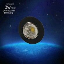 2017 Led Spotlight Teto dimmable(0-100%) new Style 10pcs/lot 3w cob Down Light 230v Lighting,with High Brightness,free Shipping