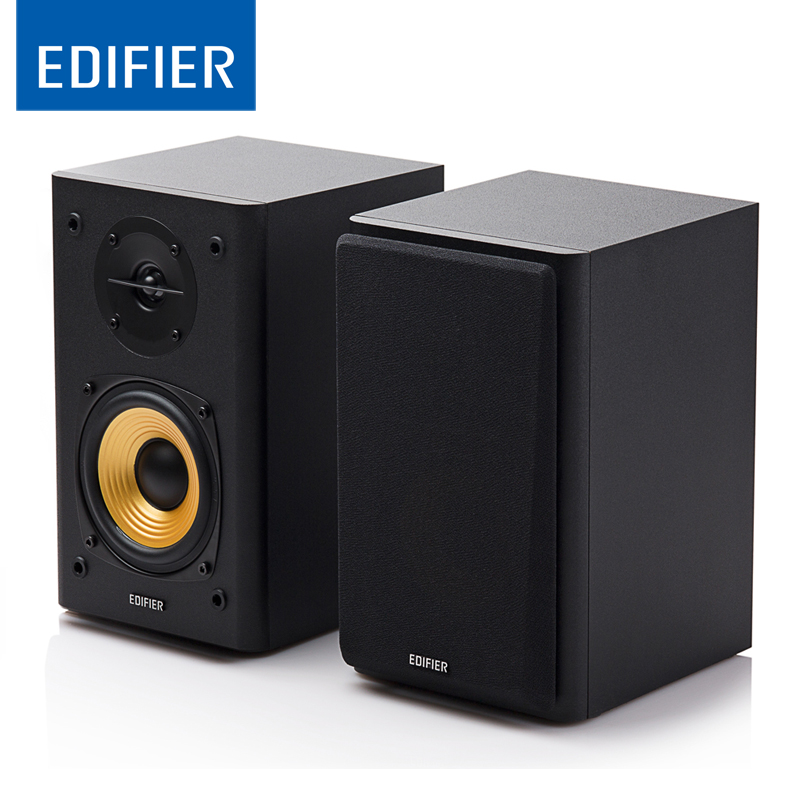 "EDIFIER R1000T4 Ultra-stylish Bookshelf Speaker Home Theater Party Speaker Sound System with 4"" Bass Driver Front Facing Bass"