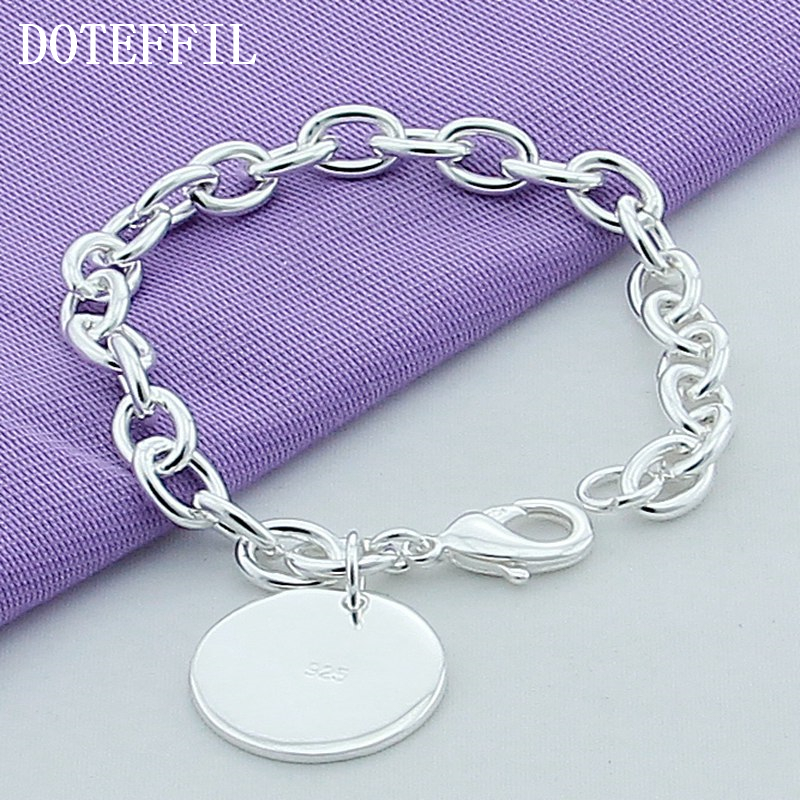 Braccialetto di lusso in argento sterling 925 con braccialetti rotondi di alta qualità da uomo in argento placcato di alta qualità