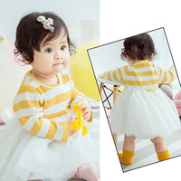 For 2017 Spring Baby Wear Clothes Long Sleeve Dress Girls Baby Clothing Brand Tutu Dresses Birthday