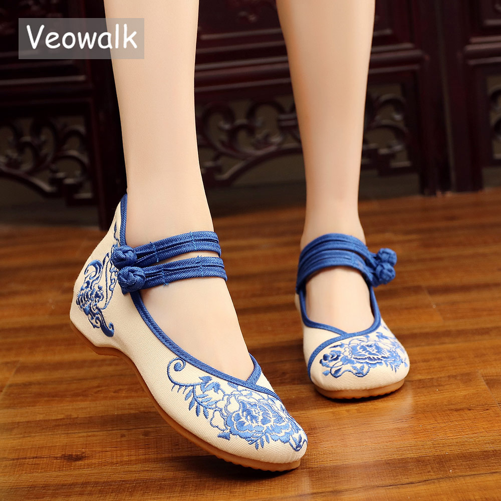 Veowalk Ruyi Embroidered Womens Casual Canvas Ballet Flats Ladies Vintage Chinese Cotton Embroidery Shoes Woman ballerinasVeowalk Ruyi Embroidered Womens Casual Canvas Ballet Flats Ladies Vintage Chinese Cotton Embroidery Shoes Woman ballerinas
