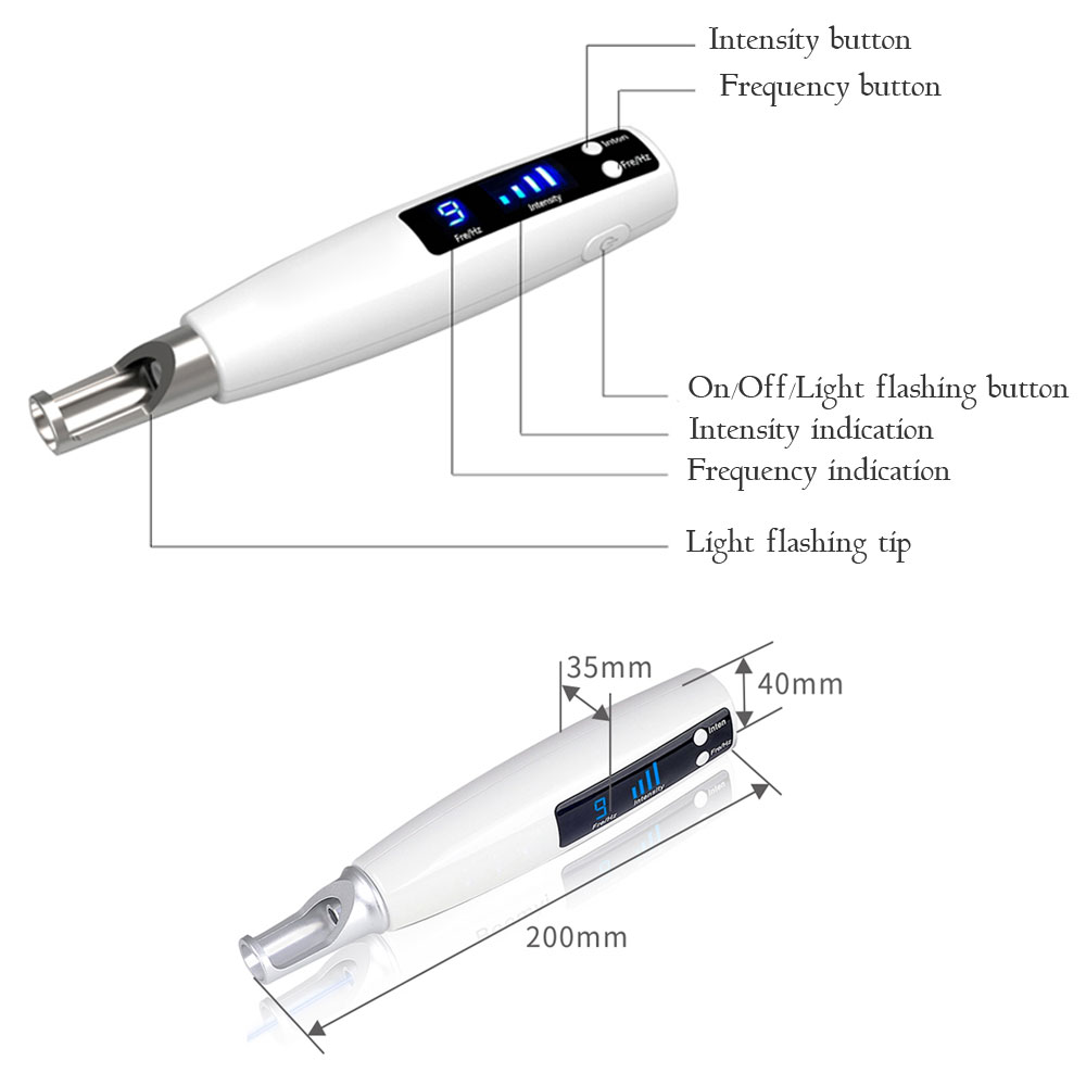 Купить с кэшбэком Picosecond Laser Pen Blue Light Therapy Pigment Tattoo Scar Mole Freckle Removal Dark Spot Remover Machine Laser Picosecond Pen