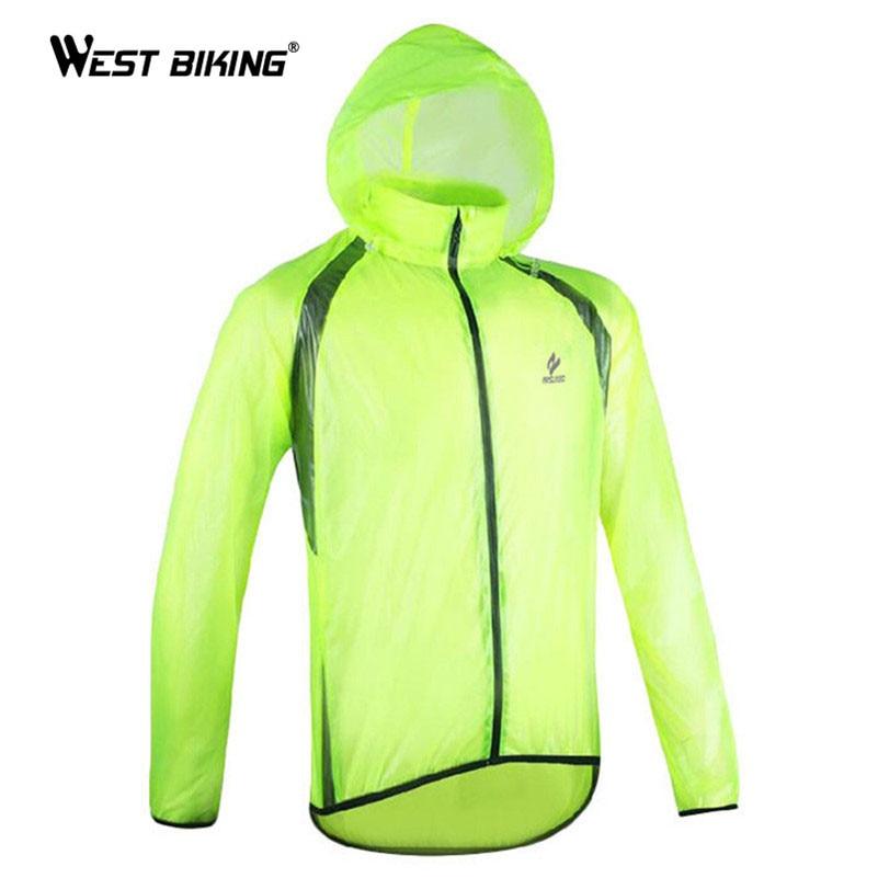 WEST BIKING Ultra-thin Windbreaker Riding MTB Bike Split Raincoat Man/Woman Cycling Jersey Windshield Waterproof Function Jacket