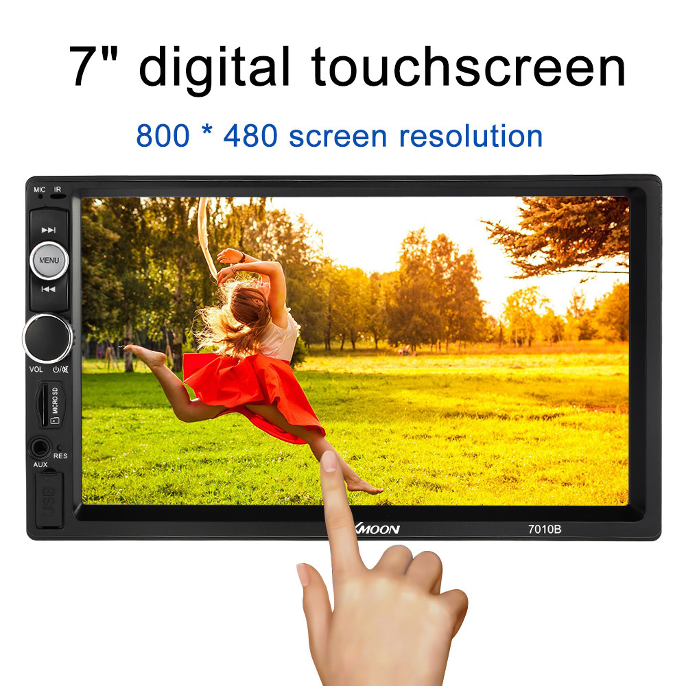2 Din Car Radio 7 inch HD Touch Scree Bluetooth Double Din Car Radio MP5 Player Multimedia Radio Entertainment USB/TF FM Aux