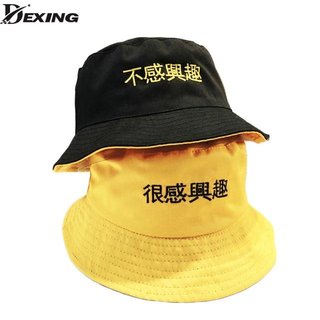 95b2febe136 Two Side Reversible Bucket Hat Unisex Fashion Bob Caps Hip Hop Gorros Men  Summer Caps yellow