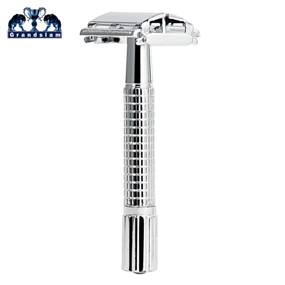 Grandslam Men's Adjustable Safety Razor Double Edge Butterfly Open Shaving Razors Classic Safety Shaver Manual Barber Machine