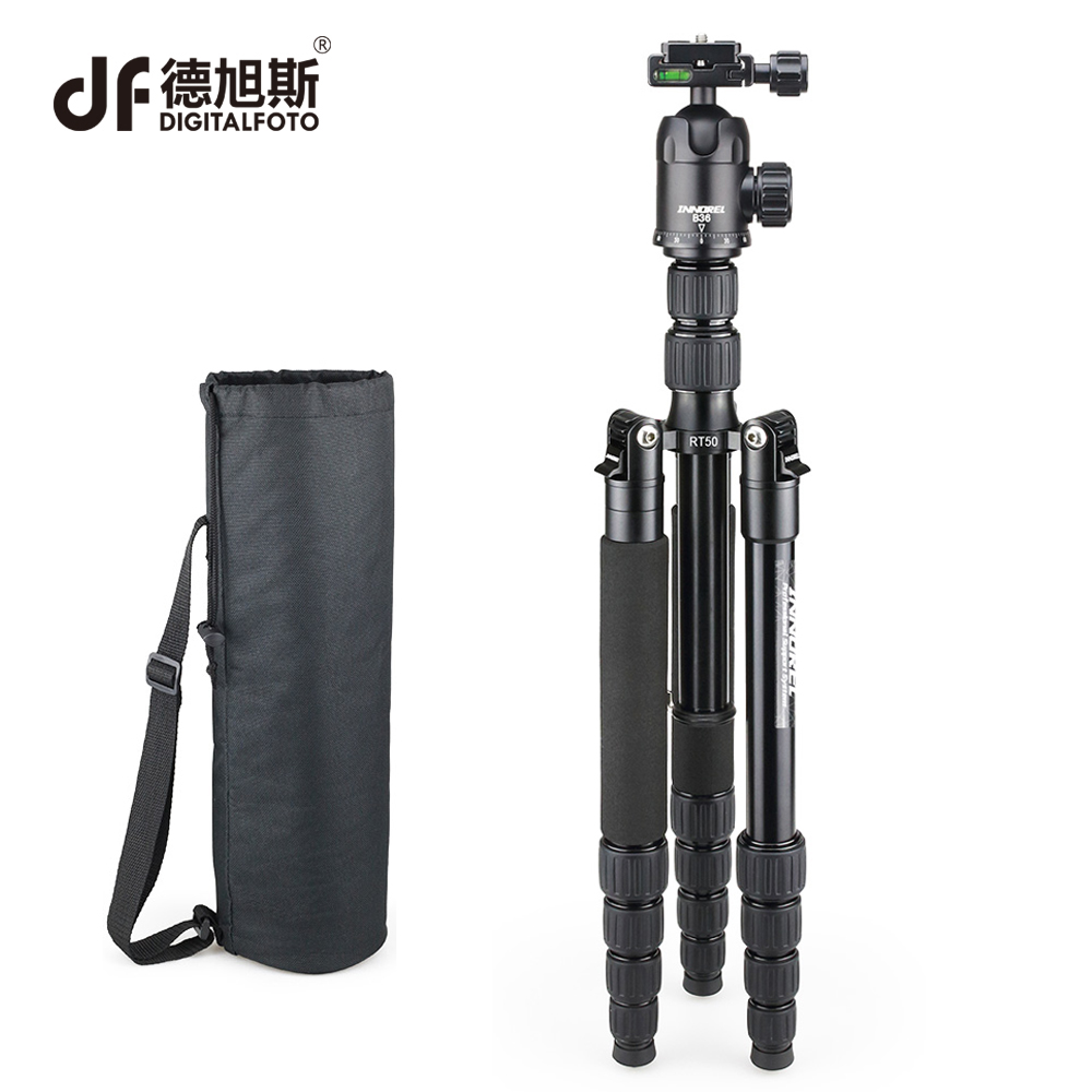 DIGITALFOTO RT50 Professional Photographic Travel Aluminum Tripod Monopod with Ball Head for Nikon Canon Sony shooting