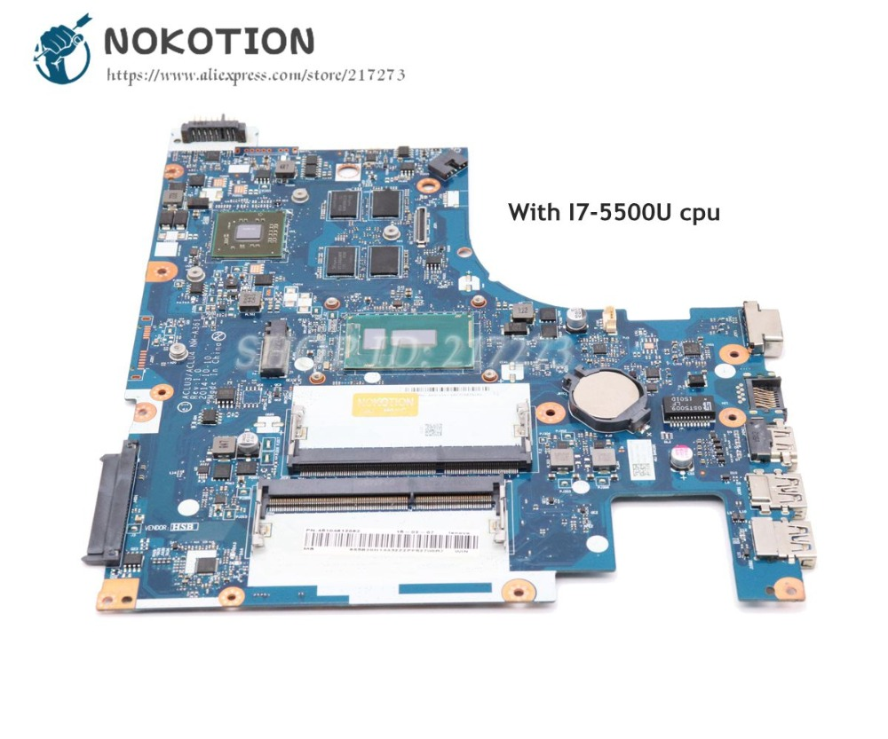 NOKOTION Laptop Motherboard For Lenovo Ideapad G50-80 ACLU3 ACLU4 <font><b>NM</b></font>-<font><b>A361</b></font> Main Board I7-5500U CPU R5 M330 graphics image