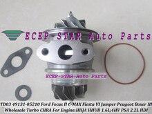 Turbo Cartridge CHRA TD03 49131-05212 49131 05212 For Ford For Focus C-MAX Fiesta VI HHJA HHUB 1.6L For Peugeot Boxer 3 4HV 2.2L