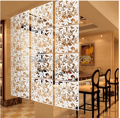 Modern Fashion Contract Birds Hanging Screen Parion Wall Stickers Room Dividers Hollowout Home Decor 8 Pcs Lot In Screens