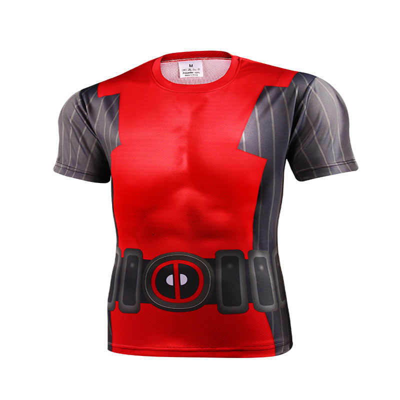 Musim Panas Baru Marvel Batman Superman Iron Man Captain America Lucu Celana Ketat Hip Hop T Shirt Pria Lengan Pendek 3 D cetak Kaos