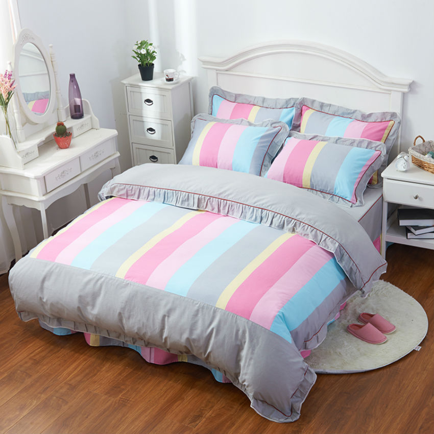 beyond cloud bed sheet style 100 cotton 34 pieces fashion design bedding sets duvet cover pillowcase 001