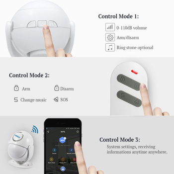 KERUI WIFI Home Security Alarm System Works with Alexa Smart App 120dB PIR Main Panel Door/window Sensor Wireless Burglar Alarm 6