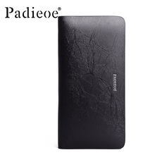 2016 High Quality Leather Men Clutch Bags Luxury Men's Long Wallet Clutches Free Shipping