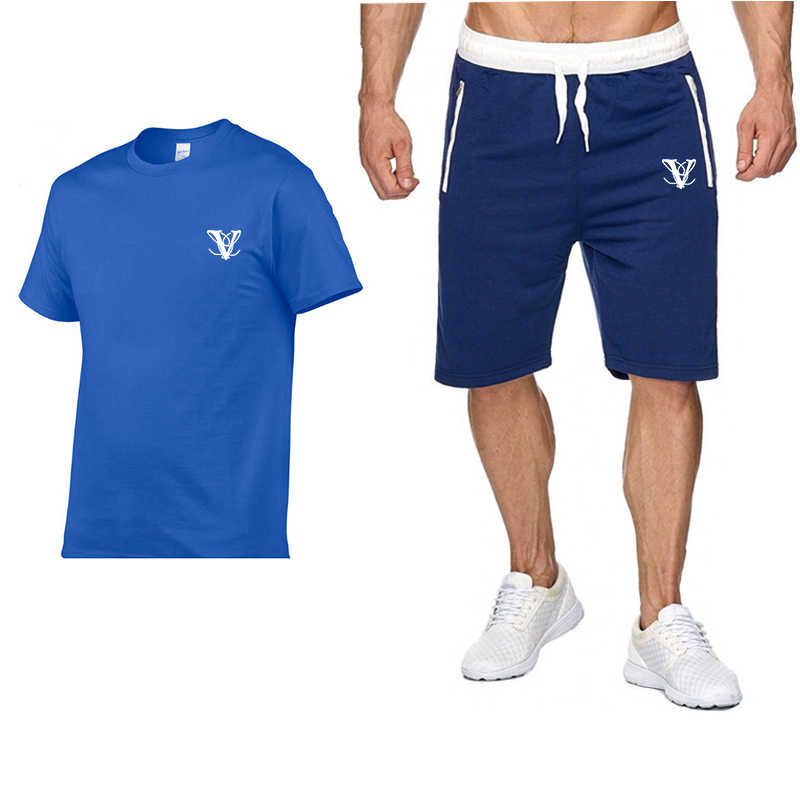 Tracksuit Male 2019 Men Clothing Set Fitness Summer Casual Men Shorts+T shirt Two Pieces Sets Plus Size Streetwear Brand Suits