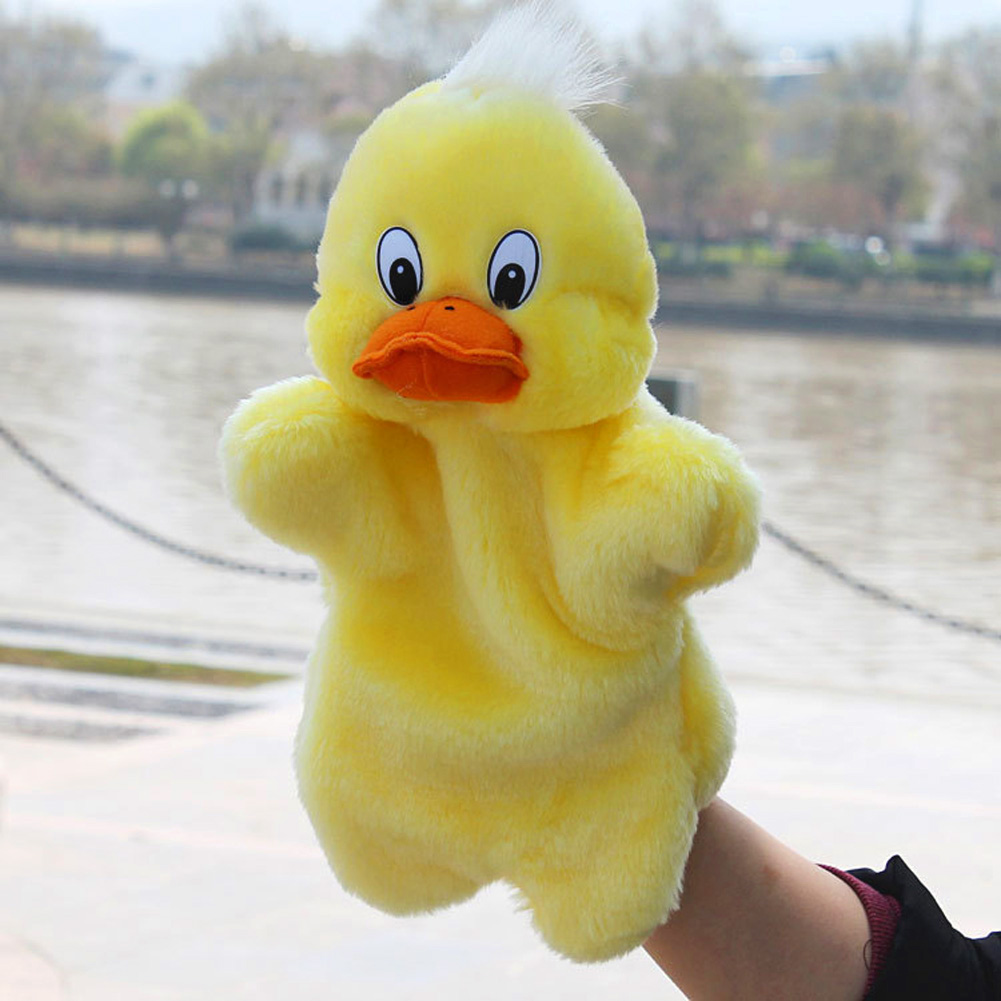 New-Kids-Lovely-Animal-Plush-Hand-Puppets-Childhood-Soft-Toy-Duck-Shape-Story-Pretend-Playing-Dolls-Gift-For-Children-2
