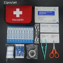 11 pçs/set venda quente de emergência Survival Kit de primeiros socorros Mini Kit de viagem esportes e casa saco médico Kit de primeiros socorros do carro ao ar livre